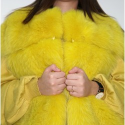 Gilet volpe shadow giallo